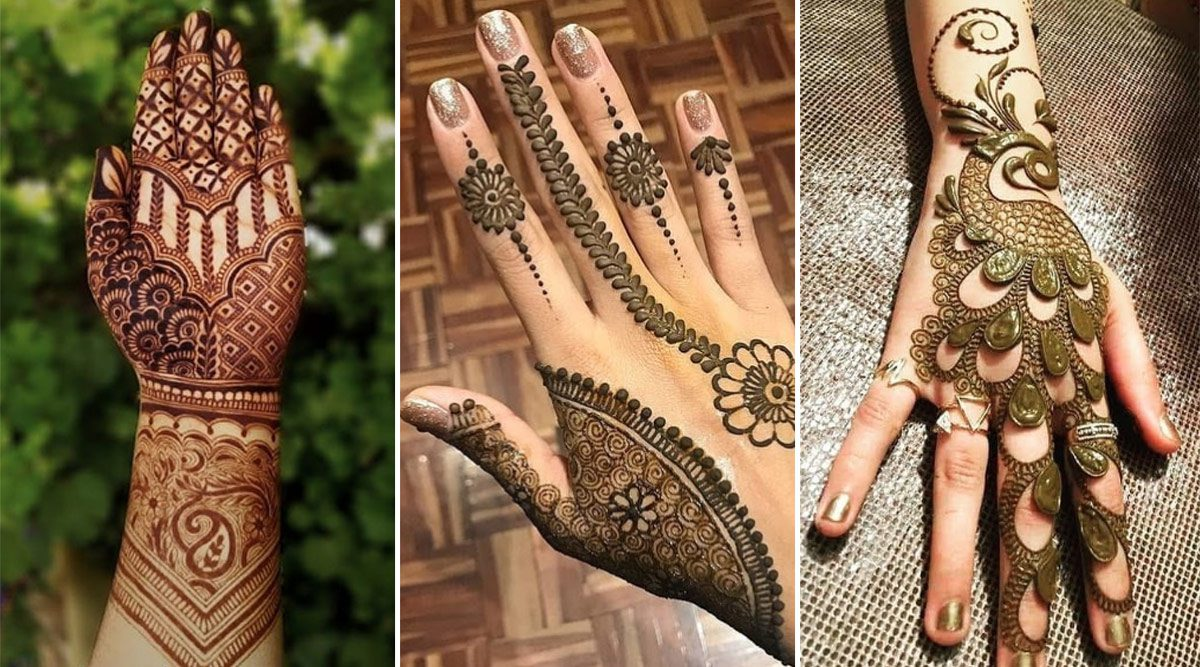 simple mehndi design back hand arabic 2021