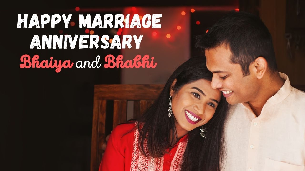 Happy Marriage Anniversary Bhaiya And Bhabhi Wedding Anniversary Quotes For Brother Whatsapp Status And Wishes Completely happy anniversary to my brother and sister in regulation. happy marriage anniversary bhaiya and