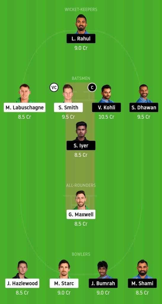 IND vs AUS Dream11 Team