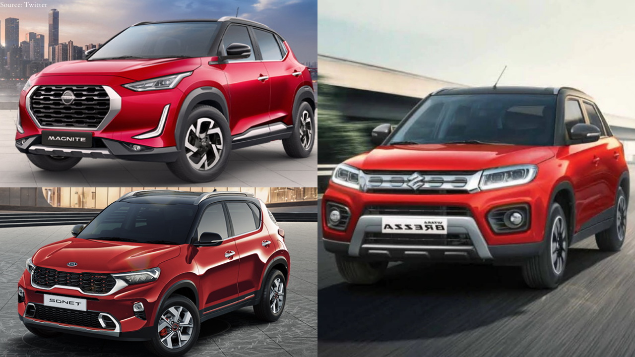 Nissan Magnite Vs Vitara Brezza Vs Kia Sonet Who Is Best Price Features Power Mileage And